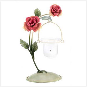 Tea Rose Votive Holder