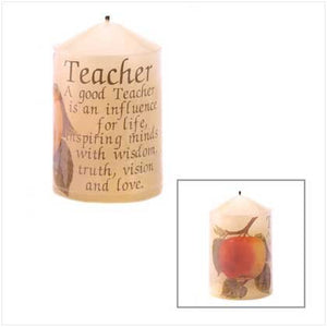 Teacher Decorative Candle
