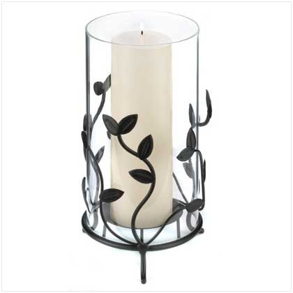 Large Laurel Branch Candle Lantern