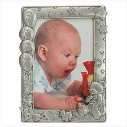 Pewter-Finished Baby Frame