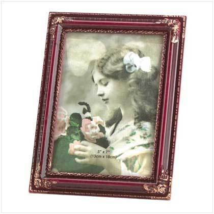 Rosewood Simulated Photo Frame