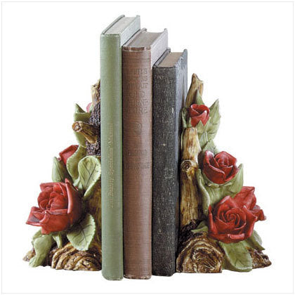 Red Rose Bookends