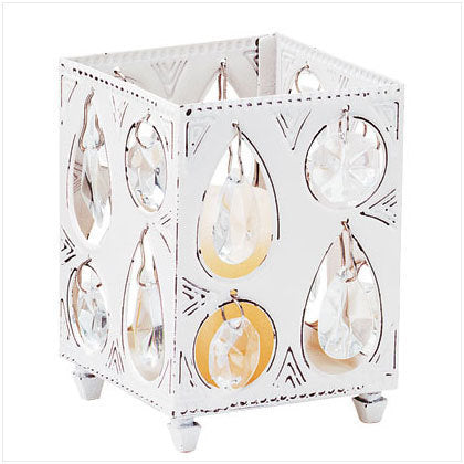 Votive Candle Holder with Glass Crystals
