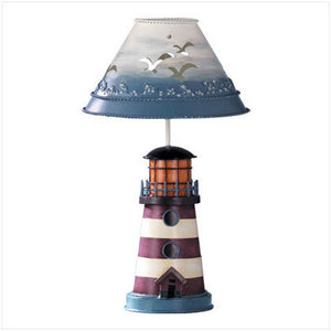 Painted Metal Lighthouse Holder