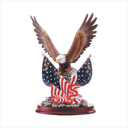 Eagle Sculpture on Wood Base