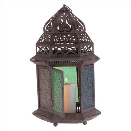Large Moroccan Style Candle Lantern