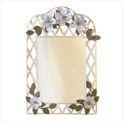 Metal Magnolia Wall Mirror