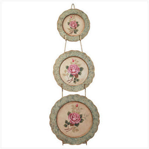Metal Rose Plate Set