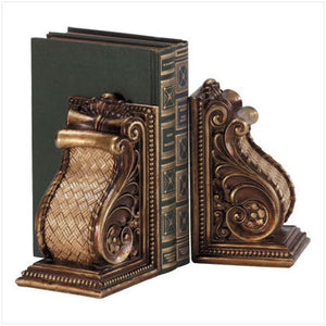 Scroll & Wicker Pattern Bookends