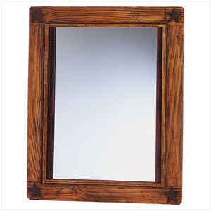 Wood Western Design Wall Mirror