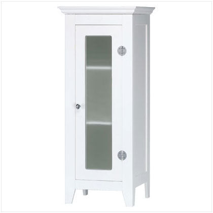 Wood Cabinet With Glass Door