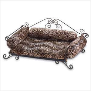 Pet Bed With Leopard Pad