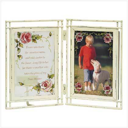 "Victorian Rose ""Mom"" Photo Frame"