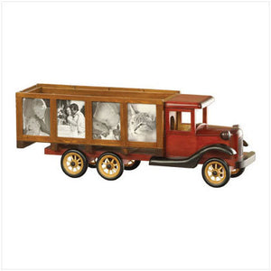 Wood Model Truck Photo Frame