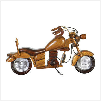 Wood Motorcycle Photo Frame