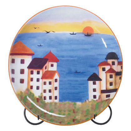 Patchwork Coast Plate with Stand
