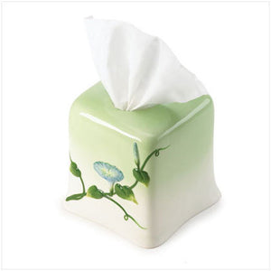 Morning Glory Tissue Box Holder