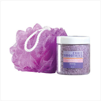 Purple Bath Crystal Scrub Set