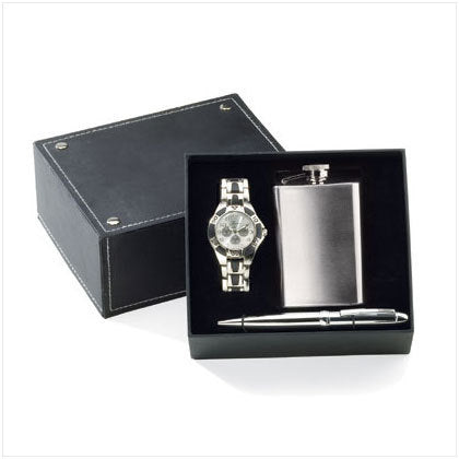 Watch Pen Flask Set