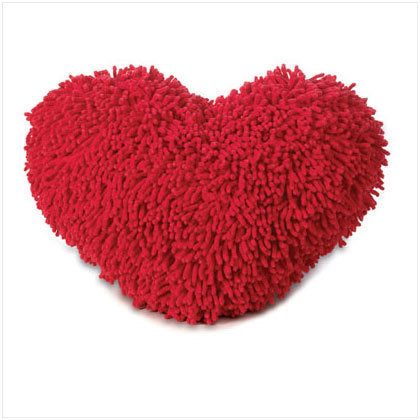 Shaggy Heart Cushion