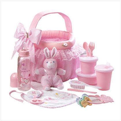 Pink Baby Soft Basket Gift Set