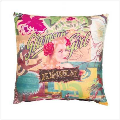 Sublimated Art Pillow - Glamour Girl