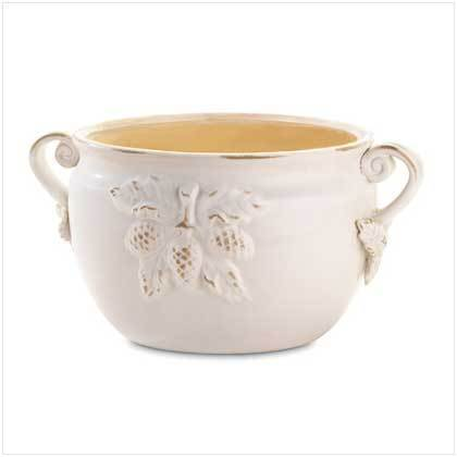 White Porcelain Bowl Planter