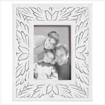 White Distressed Frame