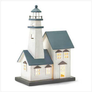 Wood Lighthouse Night Light