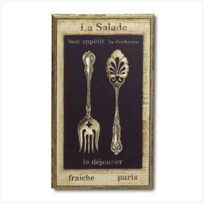 La Salade Wall Plaque