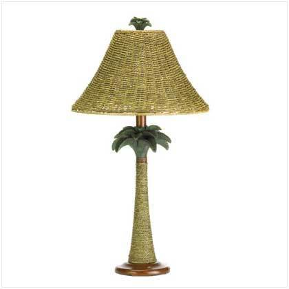Rattan Styled Palm Tree Lamp
