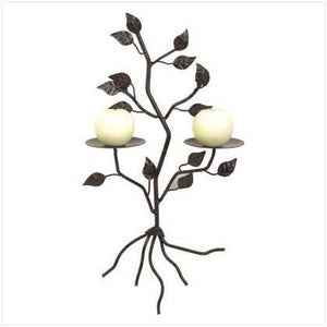Tree Shaped Wall Candle Holder