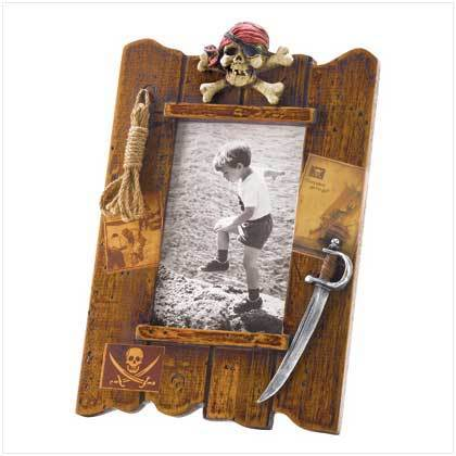 Wood Pirate Photo Frame