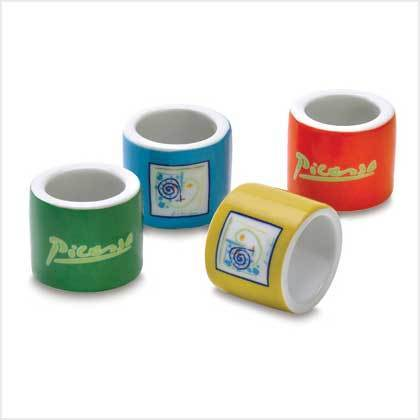 Napkin Rings - Picasso Lines - Set of 4