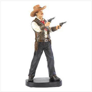 Wild West Gunslinger Statue