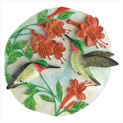 Hummingbirds Garden Plaque