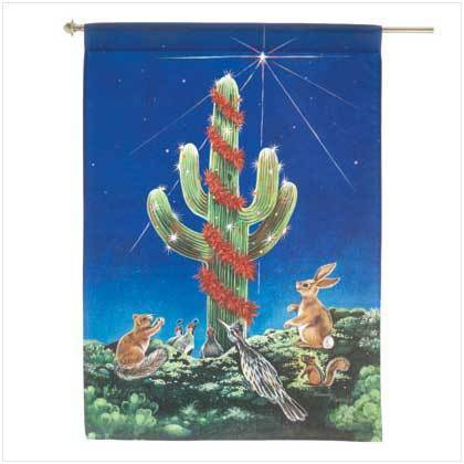 Saguaro Night Light Flag