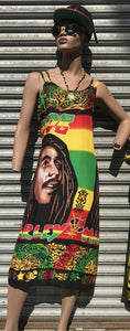 Bob Marley Long Print Dress