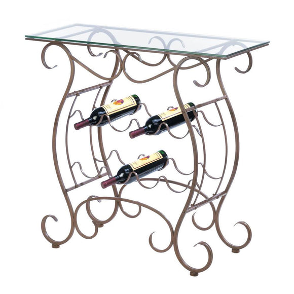 Vineyard Wine Rack Table