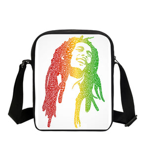 2017 Music Star Reggae Bob Marley Character Printed Messenger Bags Casual Men's Travel Bags Children Crossbody Bags Shoulder Bag