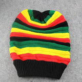 Winter Hip Hop Striped Beanies Men Women Bob Jamaican Cap Unisex Hat Multi-colour Casual Beanie Hats For Men Women Skullies  F1
