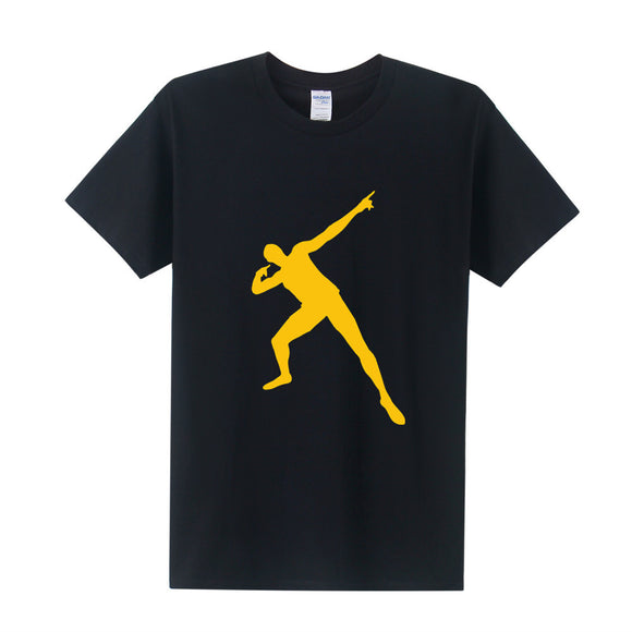 Men Usain Bolt Printed T Shirt Summer Style Fashion 2016 Short Sleeve O Neck Men Tees Shirt  Plus Size XS-3XL OT-225