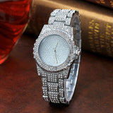 Fashion Diamond Sand Drill Surface Women Watches Gold Sliver Stainless Steel Band Quartz Wrist Watch Women Ladies Watch #510