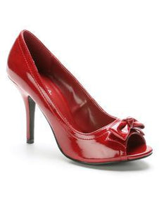 Red Patent Peep Toe Heel