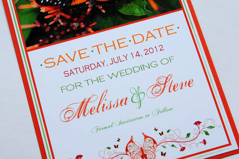 Belize Butterfly Wedding Save the Date