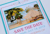 Tropical Beach Scalloped Shell Destination Wedding / Party Program