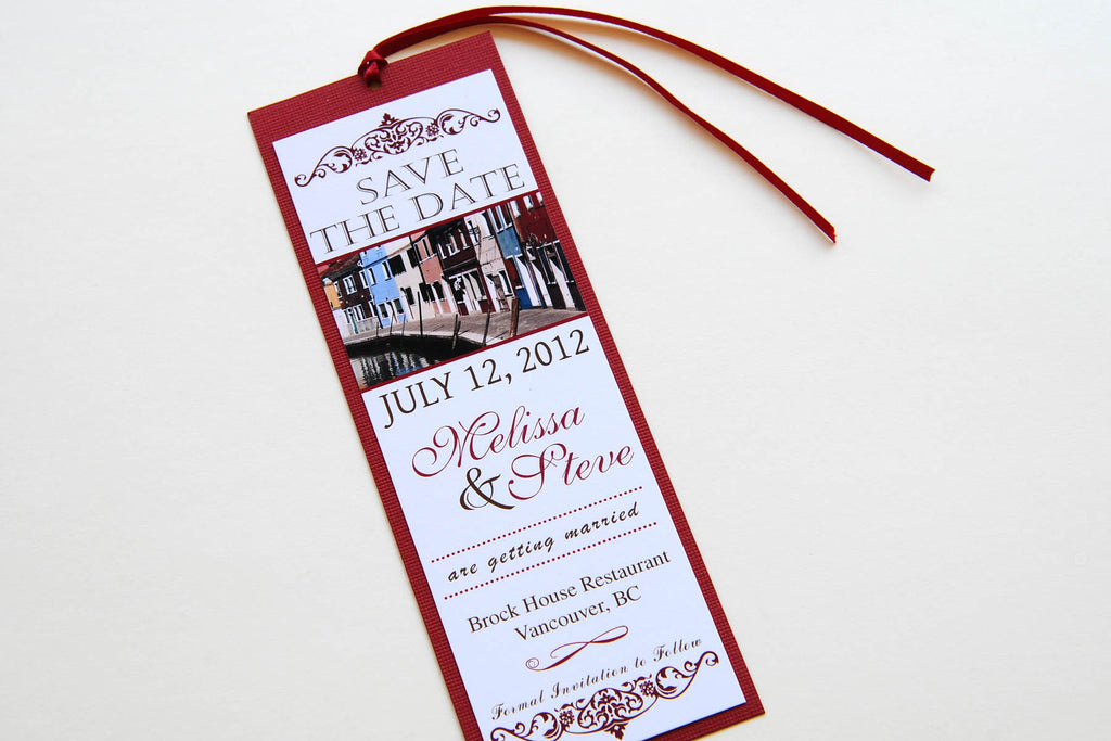 Burano - Italy Wedding Save the Date Bookmark