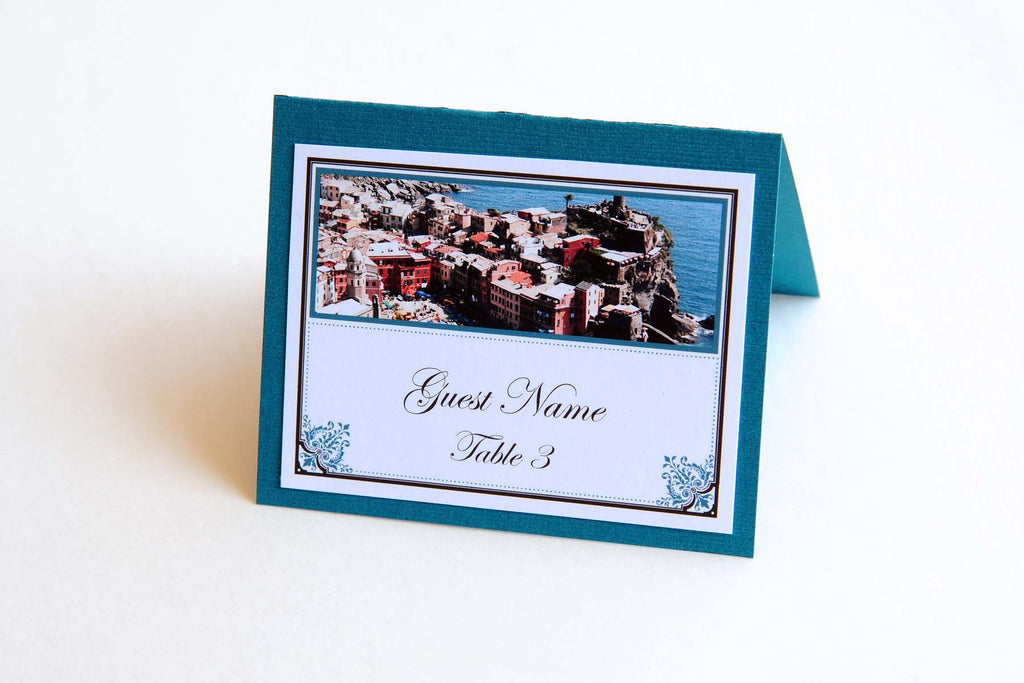 Wedding Stationery - Table Place Cards - Cinque Terre, Italy