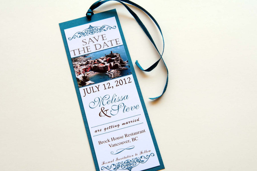 Cinque Terre - Italy Wedding Save the Date Bookmark