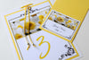Wedding Stationery - Table Numbers - Yellow Daffodil
